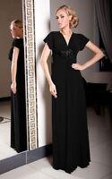 Party Abend Formelle Elegant Damen Voll Maxi Kleid Größe 8 - 22