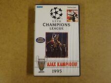 VHS VIDEO CASSETTE VOETBAL / UEFA CHAMPIONS LEAGUE AJAX KAMPIOEN 1995