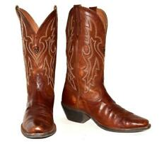 """ARIAT 12"""" Brown Leather Rodeo Stitched Cowboy Western #10005959 Mens Boots 8D"""
