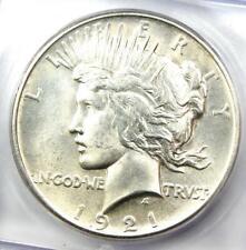 1921 Peace Silver Dollar $1 - Certified ICG MS62 - Rare UNC BU Coin!