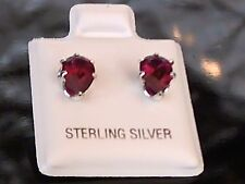 Pear-Cut 6 x 4mm to 10 x 7mm Earrings - 100% Solid Sterling Silver - All Colors