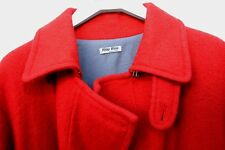 Miu Miu,doble breast military red wool coat, Size S Made in Italy. Abrigo rojo