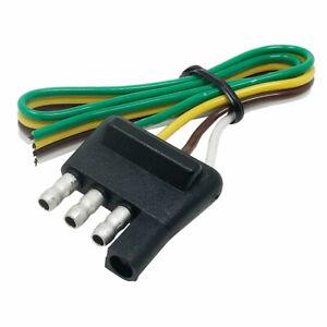 4 Way Flat Trailer Wiring Harness Plug 14 Gauge Trailer Side 12-Inch
