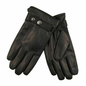 Dockers Men's Leather Touch Screen Gloves w Wrist Strap Black 45DK020025 Sz.L,XL