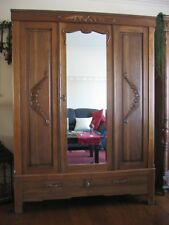 Antiker Jugendstil Kleiderschrank- Garderobenschrank aus Eiche