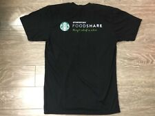 "Starbucks Employee T-shirt  Foodshare ""Hunger Relief in Action"" Medium Used"