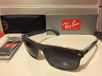 45b97b8270 New Ray-Ban RB4226 61898G Top Matte Choccolate On Blue   Grey Gradient Lens