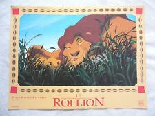 LE ROI LION   6 mini-posters papiers WALT DISNEY PICTURES SIMBA MUFASA