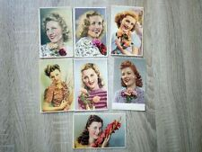 7x CPA CARTES POSTALES POSTCARDS vers 1945 PIN-UP Portraits