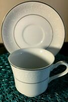 "MIKASA ""Stratford Nita White"" China  L9007  Cup & Saucer Set"