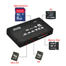 All in One 1 USB Memory Card Reader Computer PC SDHC Micro SD TF M2 MMC XD CF MS