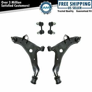 4 Piece Suspension Kit Control Arms with Ball Joints Sway Bar End Links