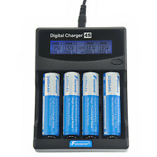 Foxnovo LCD Li-ion F-4S 26650 18650 16340 14500 AA AAA Universal Battery Charger