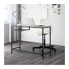 IKEA VITTSJO Laptop Table Desk Metal Frame Modern Black Brown Glass FREE SHIP