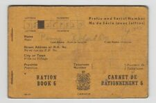 Canada Ww Ii Ration Book 6 Vintage Saint John New Brunswick Wwii