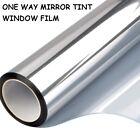 One Way Mirror Window Film Privacy Protector Sun Blocking UV Reflective DIY