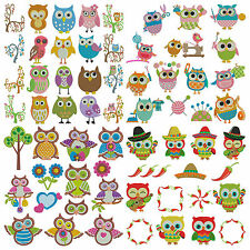 BUNDLE PACK 14 OWLS * Machine Embroidery Patterns * 4 Sets 63 Designs