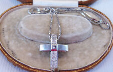Diamond Cross & Chain set in Solid 18ct White Gold