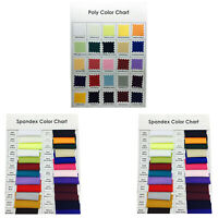 Organza Spandex Polyester Tablecloth Runner Chair Cover Sash Swatch Colour Chart