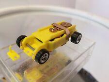 Yellow T-Dash HO slot car T-jet 500 Chassis Custom Wheels