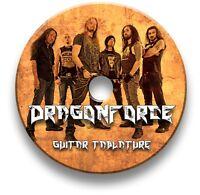 DRAGONFORCE ROCK METAL GUITAR TAB TABLATURE SONG BOOK ANTHOLOGY SOFTWARE CD