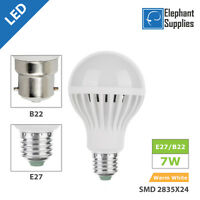 B22 E27 7W LED Light Bulbs Capsule Long Life Lamps Energy Saving SMD2835