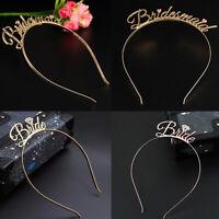 Bride To Be Wedding Bridesmaid Tiara Crown Headband Hen Party Hair Accessories