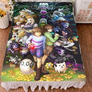 Game Undertale HD Print Anime Milk Wire Good Bed Sheet Birthday Gift 59*79''