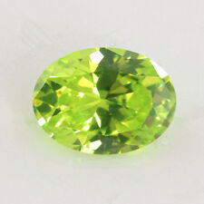 Apple Green Sapphire 4.56ct 8x10mm Oval Faceted Cut Shape AAAAA VVS Loose Gems