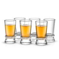JoyJolt Afina Shot Glasses, Set of 6, Heavy Base 1.5 Oz Shot Glasses