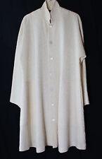 New Eskandar IVORY Textured Art-to-Wear Wool Silk ALine Elegant Coat Jacket Sz 0