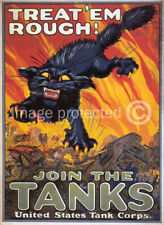 Treat Em Rough World War I US Army Vintage Poster