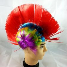 Red Punk Mohican Rocker Wigs Mohawk Wig Fancy Hen Party Dress Costume Stag Du