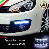 COPPIA LUCI DIURNE DRL 8 LED BIANCHI DAYLIGHT PER AUTO 12V ALTISSIMA LUMINOSITA'