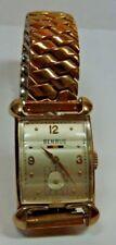Antique Vintage BENRUS 10k Yellow Gold GF Deco Wrist Watch Working  #AA6