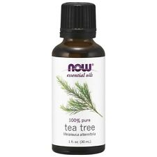 NOW FOODS 100% Pure Tea Tree Oil 1 oz (30 ml) ,Clearance for stained/ dented