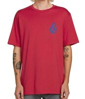 Volcom Mens T-Shirt Red Size Small S Graphic Front Back Pullover Tee #215