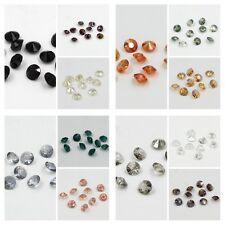"120 pieces Swarovskii 8mm side hole ""Diamond shape"" Crystal bead C Mixed colored"