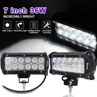 Safego 2x 7inch 36W LED Scheinwerfer Arbeitslicht Auto bar Offroad Flutlicht 4WD
