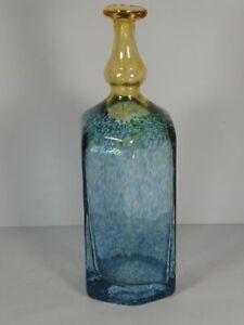 Kosta Boda Blue and Amber Antikva Glass Vase Signed B. (Bertil) Vallien, 16.5cm