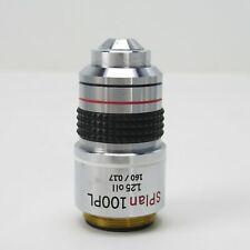 Olympus Splan 100pl 125 160017 Phase Contrast Microscope Objective 100x