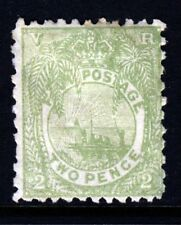 FIJI Queen Victoria 1893 Two Pence Green Perf.11x10 SG 83 MINT