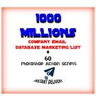 ≈1 Billion Company Email Database Marketing List +60 Photoshop Action Scr(bonus)