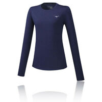 Mizuno Womens Impulse Core Long Sleeve Top - Navy Blue Sports Running Breathable