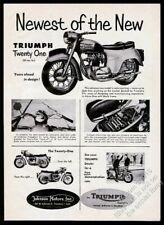 1959 Triumph motorcycle Twenty-One 21 6 photo vintage print ad