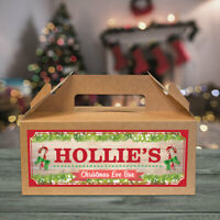 Personalised Christmas Eve Gift Box Xmas Favour Present Custom Made Any Name