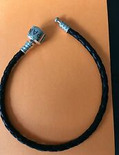 pandora black leather bracelet 20cm long