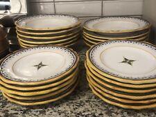 Deruta Italian Pottery Cama Salad Dinner Plate Large Pasta Bowl (37 Pieces)