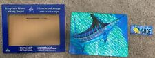 Guy Harvey Tempered Glass Marlin Cutting Board Signed by Guy Harvey On Back