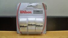 NEW WILSON WRZ005WH PRO PERFORATED FEEL OVERGRIP WHITE 3 PACK  FREE 1ST CLS S&H
